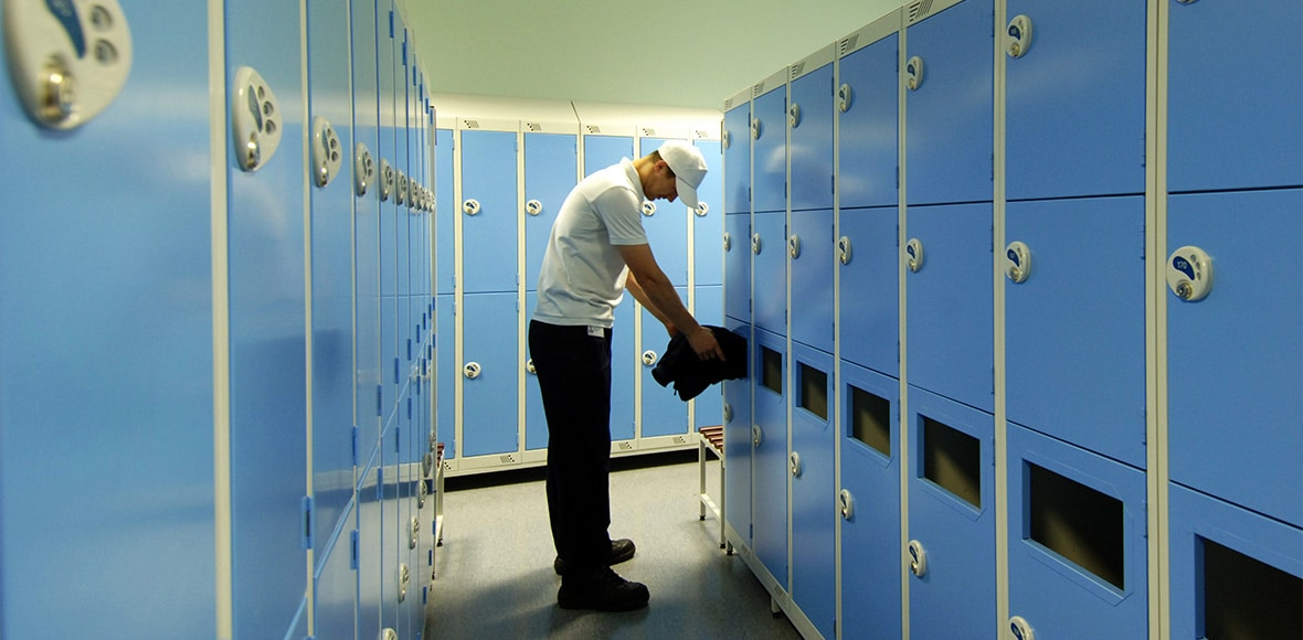 Antimicrobial Steel Lockers